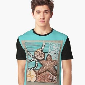 Coastal Shore Graphic T-Shirt designed by COB